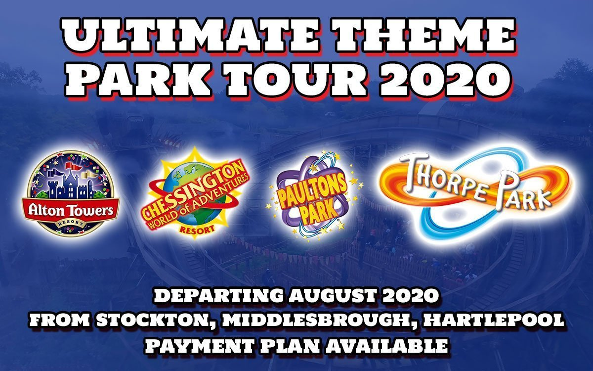 Theme Park Ultimate Tour. Stockton Middlesbrough Hartlepool.