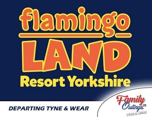 Flamingo Land departing from Tyne & Wear